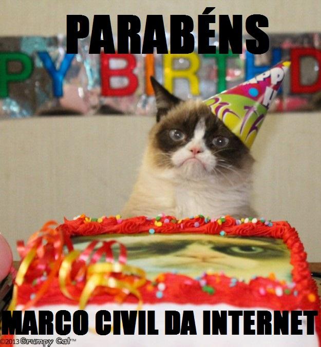 O Marco Civil da Internet, Lei nº 12.965 foi sancionado em  23 de abril de 2014